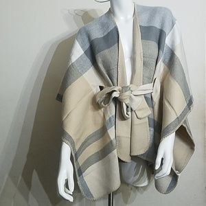 Jackets & Blazers - Brand new women's reversible belted wrap. One size